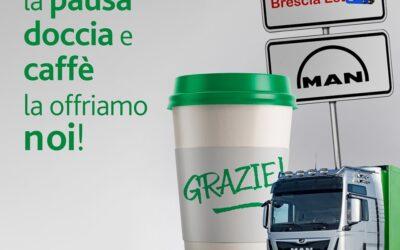 Man Italia offre caffè e doccia all'autoparco Brescia Est
