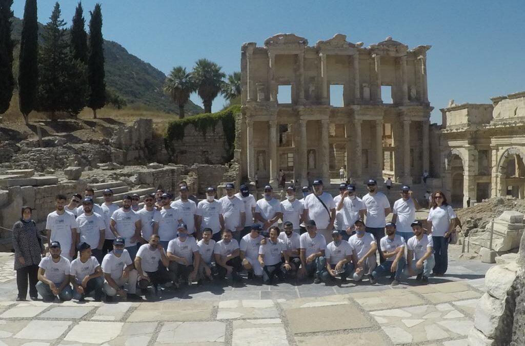 SABO Suspension System visits the Library of Celsus