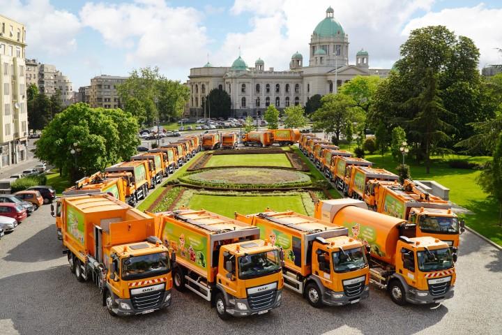 DAF Trucks delivers 44 city sanitation vehicles to Belgrade