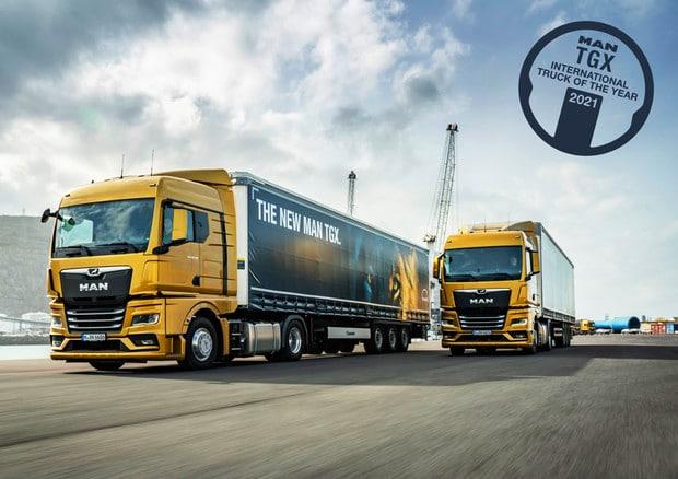 MAN'S new TGX wins the 2021 International truck of the year award