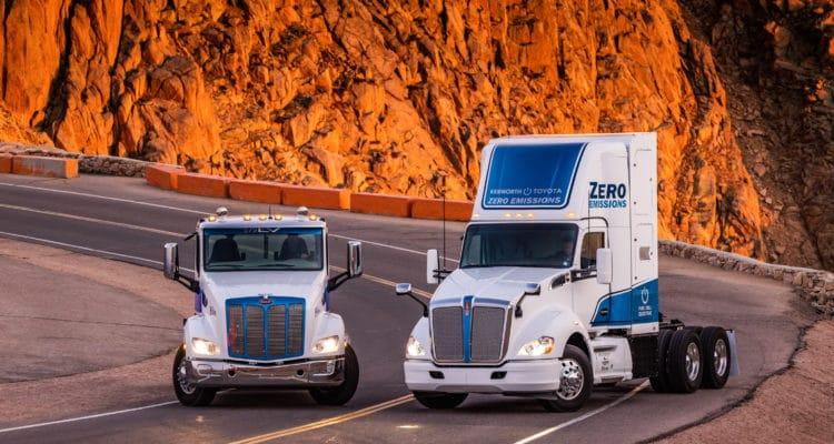 Kenworth and Peterbilt Zero Emissions Trucks Summit 14,115-Foot Pikes Peak