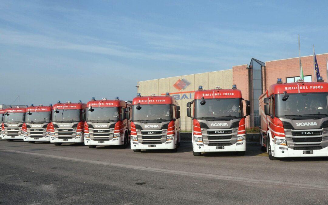 60 veicoli antincendio Scania per i Vigili del fuoco